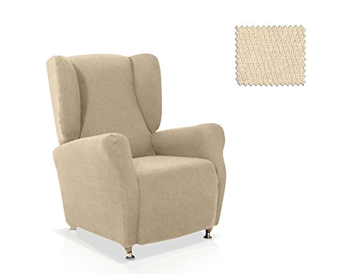Funda de sillón orejero Minerva Tamaño 1 plaza, tamaño estandar Color Marfil (varios colores disponibles)