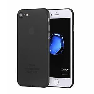 doupi UltraSlim Case per iPhone 8/7 (4,7 pollici) satinato fine piuma facile Mat semi transparente Copertura Tacsa Custodia Caso Cover - Nero
