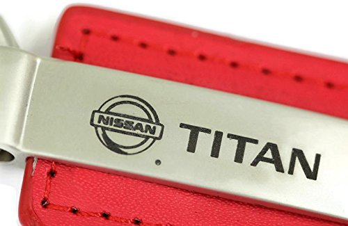 nissan-titan-leather-key-chain-red-rectangular-key-ring-fob-lanyard-by-dantegts