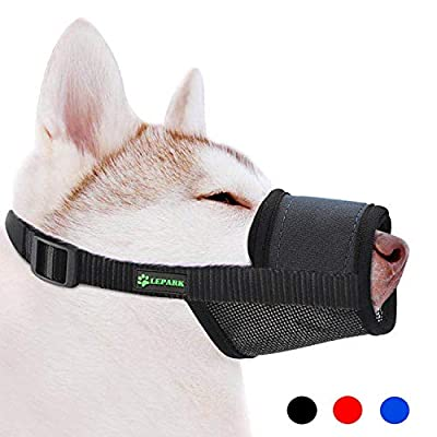 RockPet Soft Dog Muzzle with Hook & Loop for Small, Medium and Large Dogs,Prevent from Biting, Barking and Chewing, Adjustable by Yiwu Tongyan Electronic Commerce Co.Ltd.