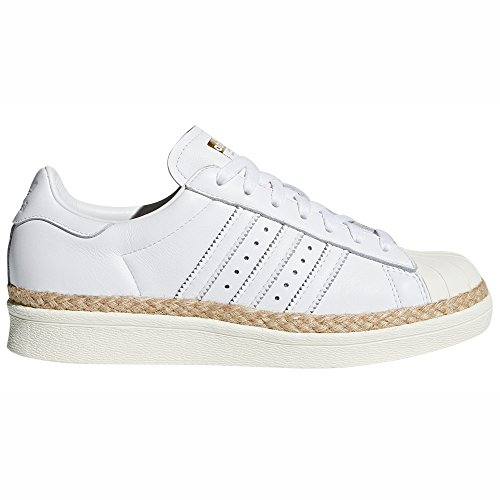 adidas Original Superstar Bold Weiß/Pink BY9076. Sneaker-Plattform. Schuhe Damen (38 2/3 EU, White/Off White)