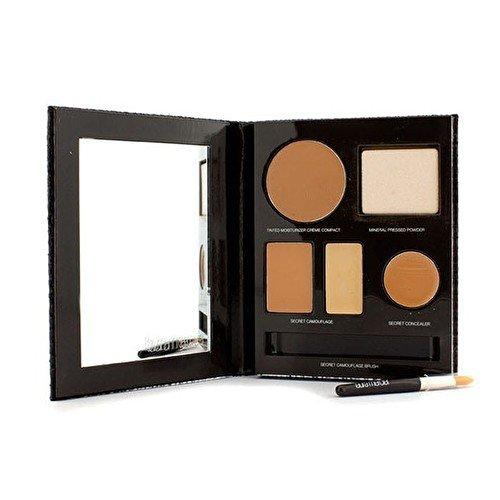 Laura Mercier The Flawless Face Book - # Tan (1x Creme Compact, 1x Pressed Powder w/ sponge, 1x Secret Camouflage...) 5pcs - Make-up (Laura Mineral Mercier Powder)