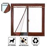 Liveinu Magnet Fliegengitter Tür Fenster Insektenschutz mit Klettband Fassung Moskitonetz Fliegenvorhang für Balkontür Schieb