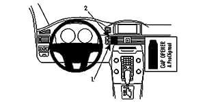 Brodit ProClip für Volvo S80/V70 II/XC70 12-13 schwarz