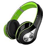 Mpow 059 Auriculares Diadema Bluetooth Inalambricos, Cascos Bluetooth Inalambricos Plegable con Micrófono, 20hrs Reproducción de Música, Hi-Fi Sonido Estéreo para TV, PC, Móviles, Verde