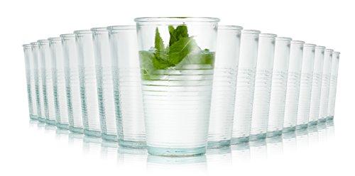 Jamie Oliver verres recyclés / Ensemble de 18 / 330 ml / Verres à eau / Transparent/ lave-vaisselle