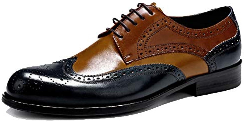 Oxford scarpe Mens Comfort Marronee Business Scarpe Stringate Lace Up in Pelle di Vacchetta | Bassi costi  | Uomini/Donna Scarpa