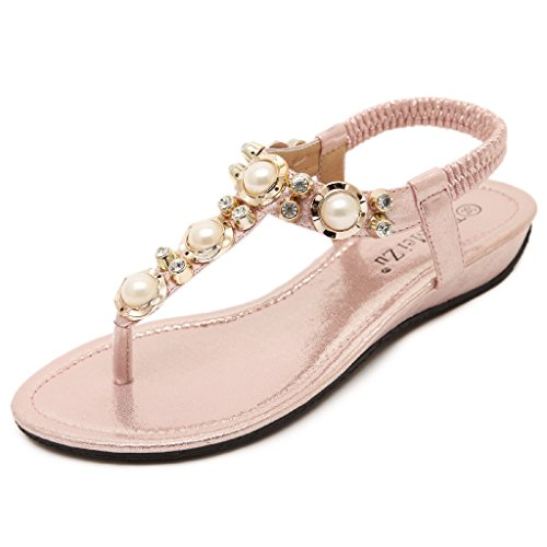 lemontree-damen-mdchen-sommer-bohemia-flach-zehentrenner-sandalen-39-rosa