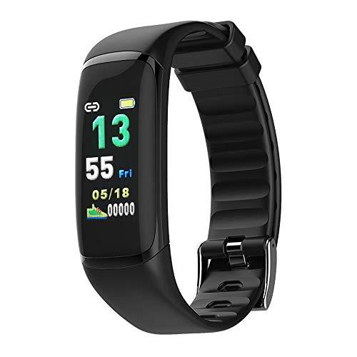 OOFAYWFD Fitness-Tracker, 0,96 Zoll Farbdisplay Herzfrequenz Blutsauerstoff HRV Atemwegsermüdungsüberwachung Herzalarm Multisport-Modus Bluetooth Smart Armband 5