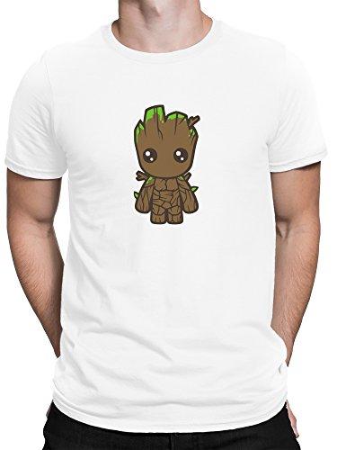 vanVerden Herren Fun T-Shirt Süßer Comic Baby Baum Plus Geschenkkarte, Größe:XXL, Farbe:Weiß (Baum, Weißes T-shirt Weihnachten,)