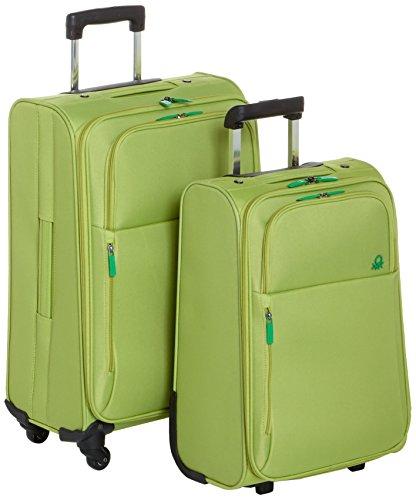 Benetton Lote de 2 Maletas Con Ruedas UNDERSCORE_58073314_VERDE 92 L