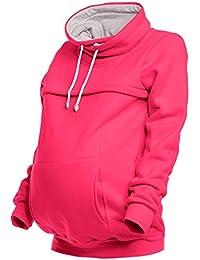Happy Mama. Para mujer sudadera panel de lactancia top bolsillo de canguro. 354p