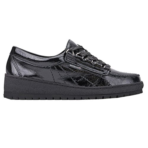 Mephisto Womens Lady Patent Patent Leather Shoes Nero
