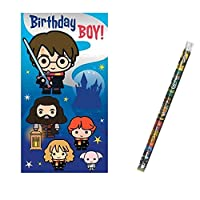 Unique Industries and Danilo Harry Potter Birthday Boy Birthday Card with a Harry Potter Pencil Gift