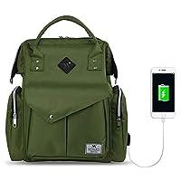 My Valice Smart Bag Happy Mom Usb'li Anne Bebek Bakım ve Sırt Çantası Yeşil
