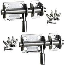 Pestillo de acero inoxidable para puerta corredera, cerradura de seguridad para puerta de baño,