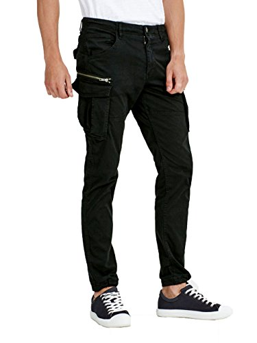 JACK & JONES Jjipaul Jjchop Ww Black Noos, Pantaloni Uomo Nero (Black)