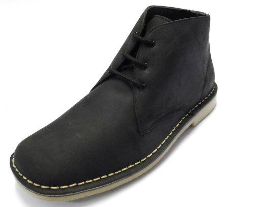 Roamer ,  Unisex - Erwachsene Desert Boots waxy black leather