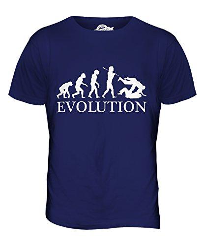 CandyMix Judo Evolution Des Menschen Herren T Shirt Navy Blau