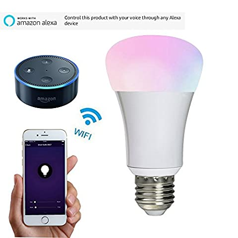 Wifi Smart Led Light bulb Work with Amazon alexa Home