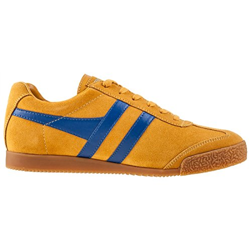 Gola Mens Harrier Suede Trainers Gold Blue Perfecto 2aFqtLctLk