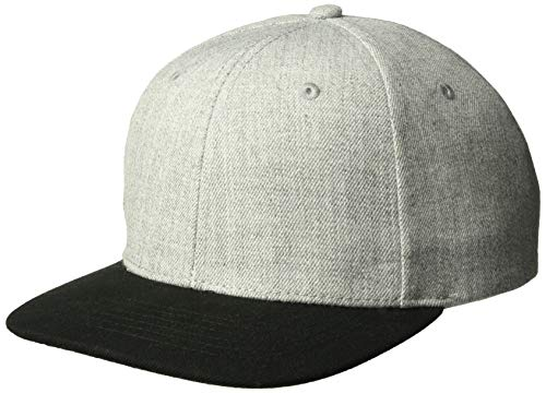Ouray Sportswear Erwachsene Heavy D Cap Hut Grau (Heather Grey)/schwarz ()