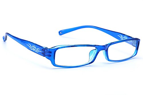 NEW UNISEX (Damen Herren) Flower Blumen Retro Vintage Lesebrille Brille +0.50 +0.75 +1.0 +1.5 +2.0 +2.5 +3.00 +4.00 Reading glasses Morefaz(TM) (+4.00, Blue)