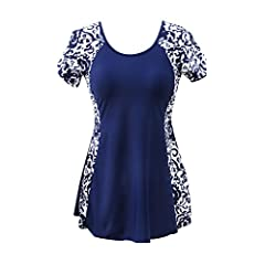 8e39dd02283 Ecupper Womens One Piece Swimsuit Plus Size Swimdress Short S ..