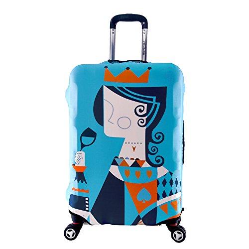 Artone Poker Regina Spandex Viaggio Protezione Bagagli Bagaglio Copertura Valigia Adatti I Bagagli Da 29-32 Pollici Blu