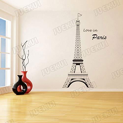 ljradj Liebe In Paris Tower Building Große Größe Wandaufkleber Für Wohnzimmer Hintergrund Kunst Dekoration Für Zuhause Vinyl Aufkleber gelb 110X183 cm (Minion Computer-tastatur)