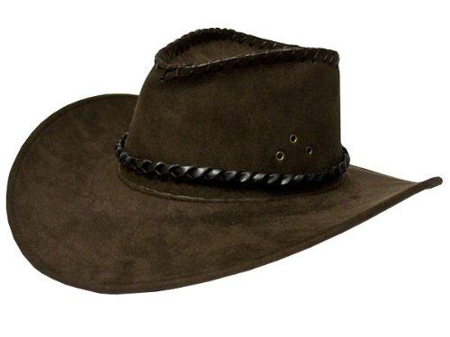 Brauner Cowboyhut Herren Damen braun für Erwachsene Cowboy-Hut Western Hut von ALSINO