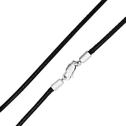 Thomas-Sabo-Damen-Halsband-aus-schwarzem-Kunstleder-mit-Silberverschluss-Lnge-80-cm-X0006-088-11