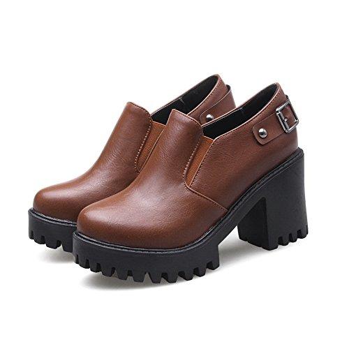 Balamasa - Sandales Compensées Pour Femmes Brown