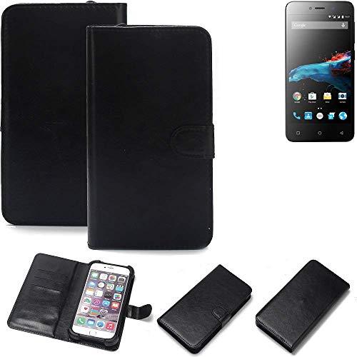 K-S-Trade 360° Wallet Case Handyhülle für Phicomm Energy 2 Schutz Hülle Smartphone Flip Cover Flipstyle Tasche Schutzhülle Flipcover Slim Bumper schwarz, 1x