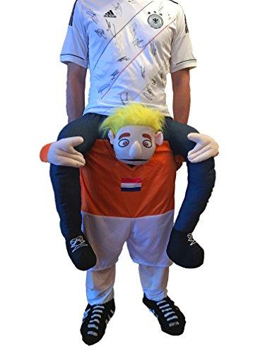 Carry the Champ Carry Me Kostüm I Kostüm für Gruppenkostüm Halloween + Karneval + Fasching + Fasnet I Lustiges Kostüm für Junggesellenabschied + Geburtstage + Partys I Huckepackverkleidung I Holland