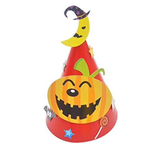 Hot Baby DIY Halloween Karton Hut Transer® Unisex Mode-Hexe-Hut Halloween Ornament Hat für Parteien Karneval Größe: 30x24cm (Einzigartige Hüte Hexe)