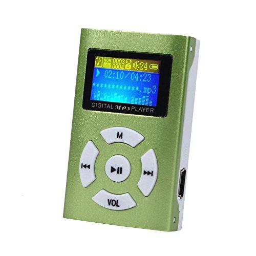 OSYARD MP3 Player,Musik Player,Tragbare USB Mini MP3-Player mit LCD-Bildschirm Unterstützt 32 GB Micro SD TF-Karte,Metall Kartenleser Touch-Taste Verlustfreie Sound Musik Player für Kinder