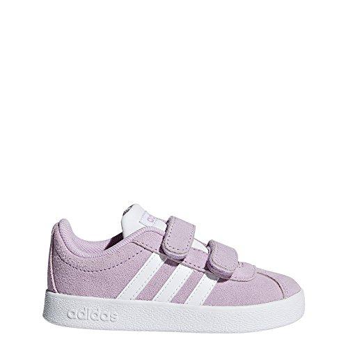 adidas Unisex-Kinder VL Court 2.0 CMF Fitnessschuhe, Violett (Lilcla Ftwbla 000), 26 EU