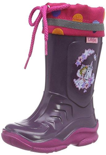 Prinzessin Lillifee 130080, Bottes en caoutchouc de hauteur moyenne, doublure froide fille Violet - Violett (Viola)