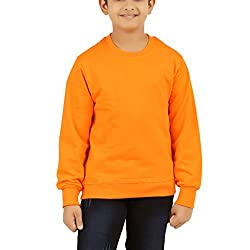 Clifton Boys Cotton Sweat Shirt R-Neck-Bright Orange-10-11 Years