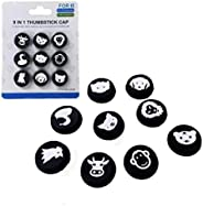 Porro Fino 9 Pieces Replacement Thumb Grips Caps Cover Silicone Luminous Analog Controller Joystick Thumb Stic