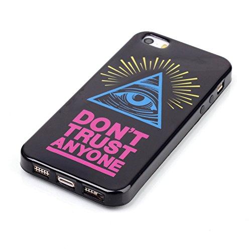 Voguecase® für Apple iPhone 5C, Schutzhülle / Case / Cover / Hülle / Ultra Slim Fit TPU Gel Skin (Kleine Gänseblümchen 05) + Gratis Universal Eingabestift Blau Augen 02