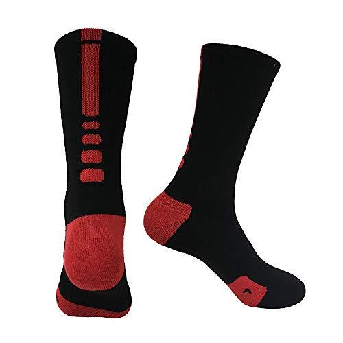 r Beruf Basketball Die Hälfte Socken Im Freien Schnell trocknend Terry Sportsocken für Bergsteigen, Camping,a ()