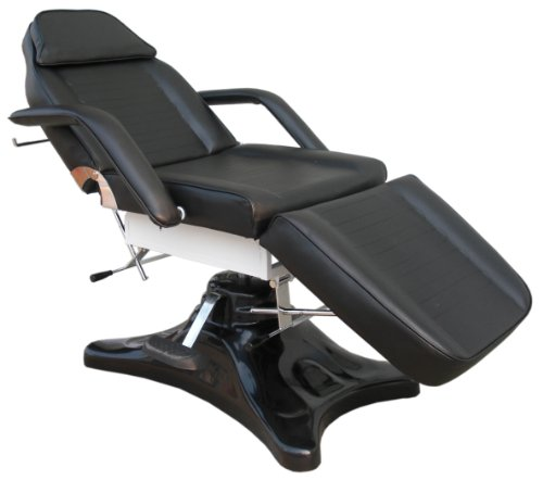 Black Hydraulic Beauty Couch Massage Chair Bed Therapy for sale  Delivered anywhere in UK