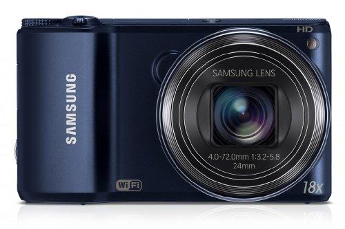 Samsung WB200F Fotocamera Digitale Smart 14.2 Megapixel, Zoom Ottico 18x, Display LCD 7.6 cm (3 Pollici), Stabilizzatore di Immagine, Wi-Fi, Colore Cobalto