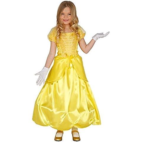 Guirca - Disfraz de princesa con vestido, para niños de 3-4 años, color amarillo (83200)