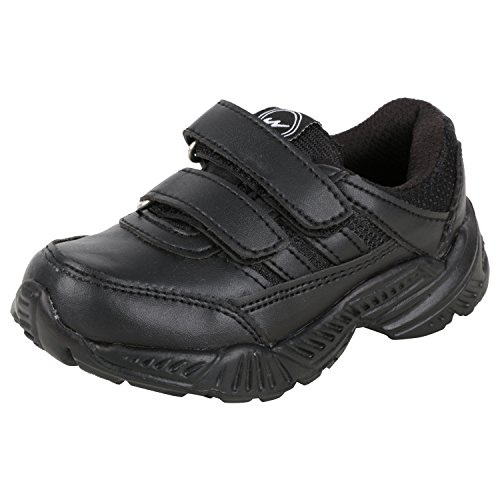 Campus Boy's/Girl's Black Sport Shoes(5 Uk)