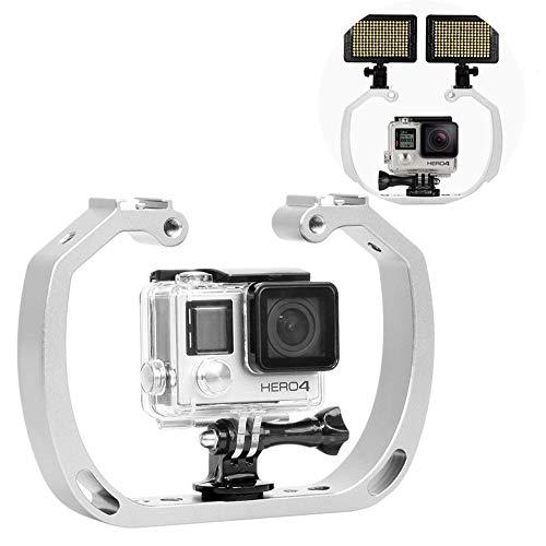 JIASHU Unterwassertauchgerät für GoPro Hero mit Kaltschuhhalterung, Handschlaufe - Funktioniert mit HERO3, HERO4, HERO5 und Wasserdichten Action Cams - Perfekte Tauchausrüstung -