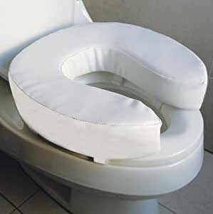 Soft Padded Raised Toilet Seat 4 Inch 10cm Kitchen Home