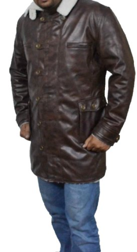 Batman The Dark Knight Rises Bane Costume Coat Faux leather Jacket USA Return Address (Outfit Knight Dark)